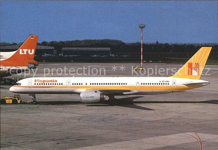 Flugzeuge Zivil Hispania Boeing 757 EC EMU Kat. Airplanes Avions