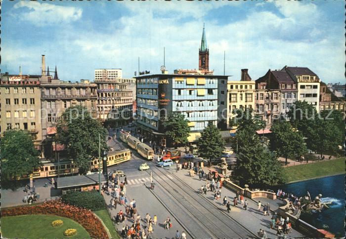 Strassenbahn Duesseldorf Corneliusplatz Koenigsallee Kat. Strassenbahn