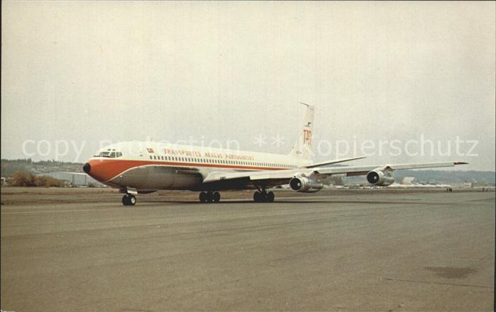 Flugzeuge Zivil TAP Transportes Aereos Portugueses Boeing 707 382B c n 18961 CS TBA  Kat. Airplanes Avions