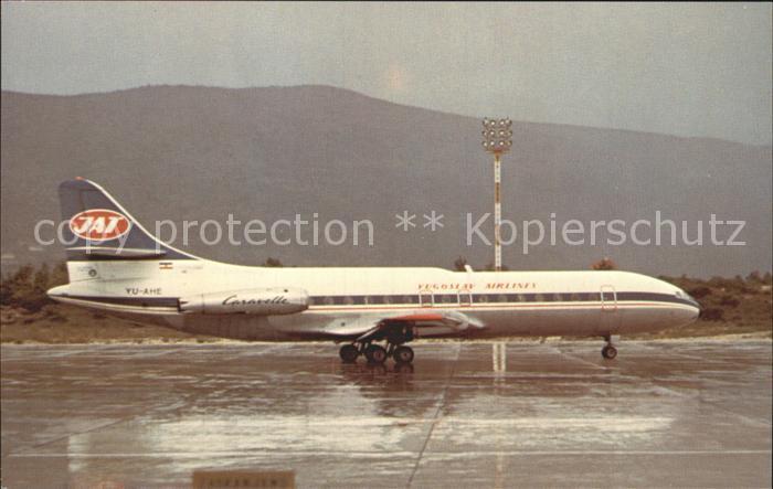 Flugzeuge Zivil JAT Yugoslav Airlines Sud Aviation Caravelle 6N c n 194 YU AHE Kat. Airplanes Avions