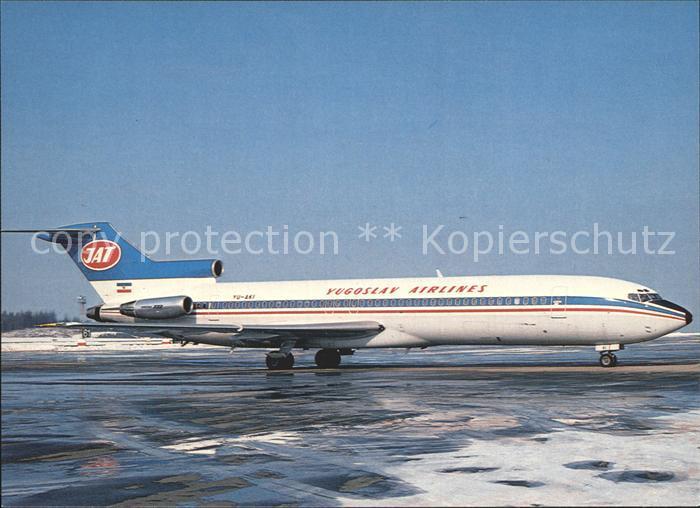 Flugzeuge Zivil Yugoslav Airlines JAT Boeing 727 2H9 Advanced YU AKI  Kat. Airplanes Avions