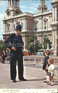 Polizei London Policeman  Kat. Polizei