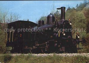 Lokomotive E3 3 Nr. 1 SLM Sensetal Dampf Bahn Bern Kat. Eisenbahn