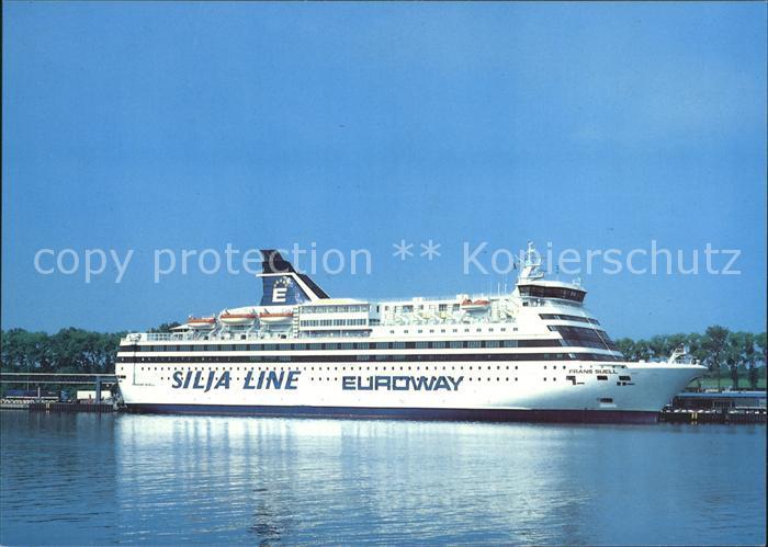 Faehre Auto  und Passagierfaehre Frans Suell Silja Line Euroway Kat. Schiffe