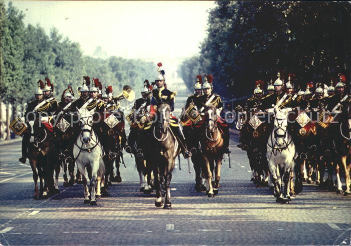 Leibgarde Wache Garde Republicaine Champs Elysees Paris Fanfare de cavalerie Kat. Polizei
