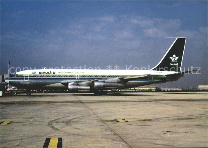 Flugzeuge Zivil Saudia Saudi Arabian Airlines Boeing 720 024B ET AFK c n 18417 Kat. Airplanes Avions