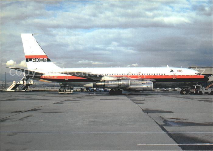 Flugzeuge Zivil Laker Airways Boeing 707 138B G AVZZ c n 17699 Kat. Airplanes Avions