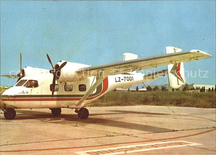 Flugzeuge Zivil Balkan Bulgarian Airlines An 14 LZ 7001 Airport Burgas  Kat. Airplanes Avions