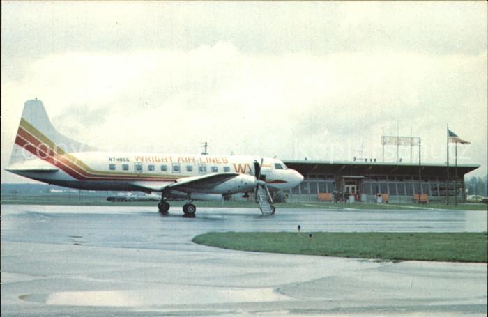 Flugzeuge Zivil WRIGHT AIR LINES OHIO MUNICIPAL AIRPORT Kat. Airplanes Avions