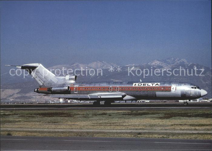 Flugzeuge Zivil DELTA AIR LINES (Western Air Lines strip) Boeing B 727 247 N502AV Kat. Airplanes Avions