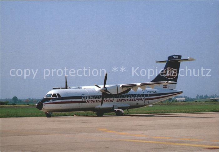 Flugzeuge Zivil ATR42 Jugoslovenski Aerotransport (JAT) YU ALK  Kat. Airplanes Avions