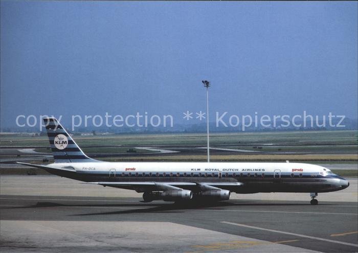 Flugzeuge Zivil KLM Garuda DC 8 32 PH DCA Amsterdam Schiphol  Kat. Airplanes Avions