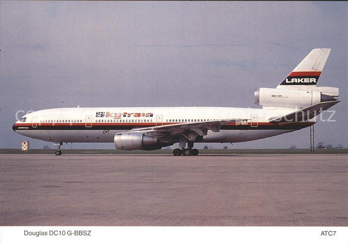 Flugzeuge Zivil Douglas DC10 10 G BBSZ Laker Airways East Midland Airport Kat. Airplanes Avions