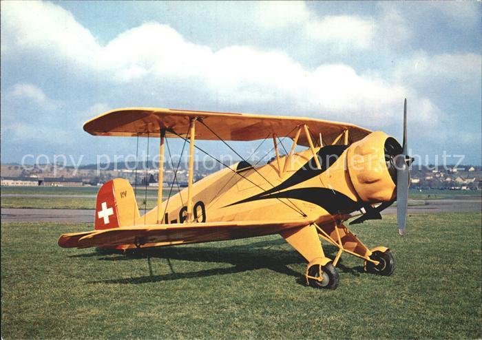 Flugzeuge Zivil Buecker Bu 133 Jungmeister Kat. Airplanes Avions