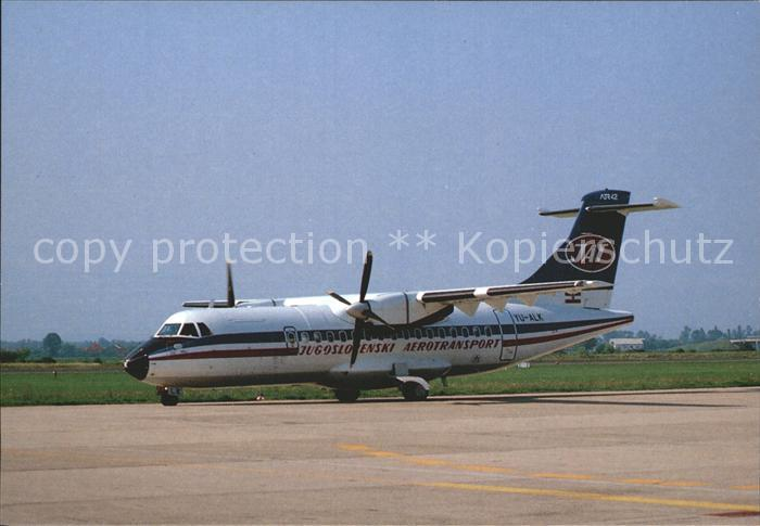 Flugzeuge Zivil Jugoslovenski Aerotransport JAT ATR 42 YU ALK Kat. Airplanes Avions