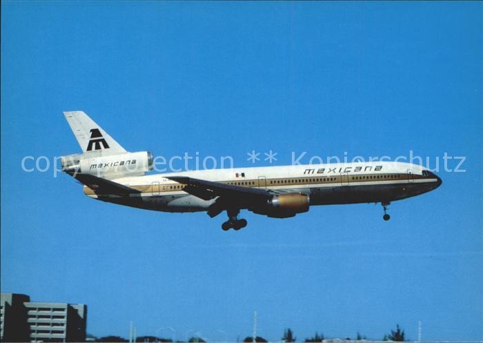 Flugzeuge Zivil Mexicana Douglas DC10 15 Kat. Airplanes Avions