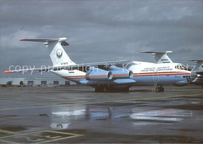 Flugzeuge Zivil Tashkent Aircraft Production Company IL 76TD UK 76375 Kat. Airplanes Avions