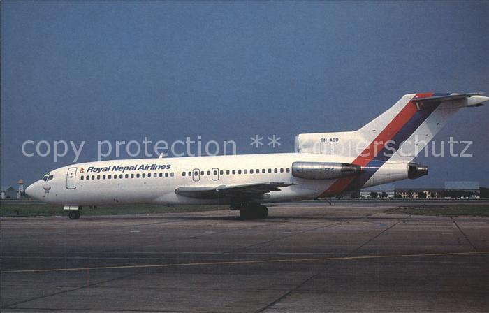 Flugzeuge Zivil Royal Nepal Airlines Boeing 727 1F8 9N ABD  Kat. Airplanes Avions