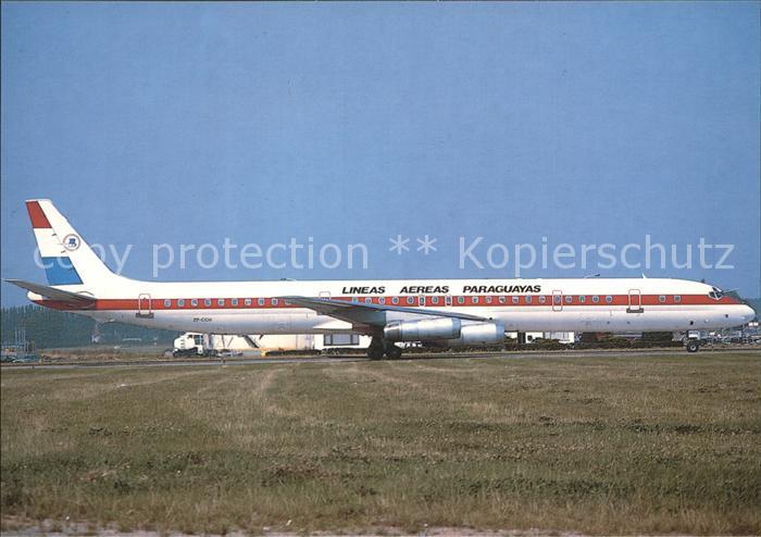 Flugzeuge Zivil Lineas Aereas Paraguayas Douglas DC 8 63  Kat. Airplanes Avions
