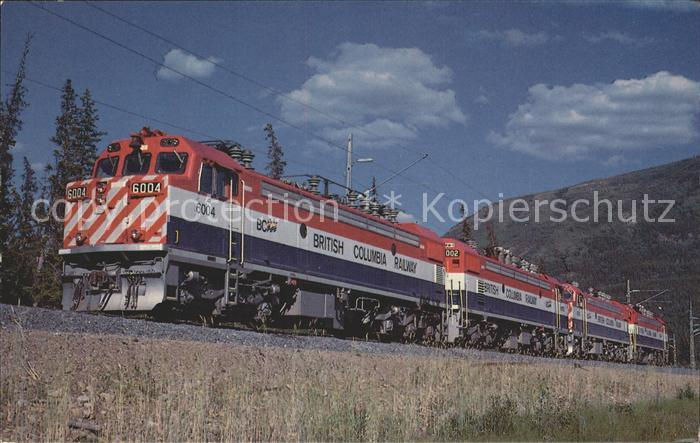 Eisenbahn British Columbia Railway  Kat. Eisenbahn