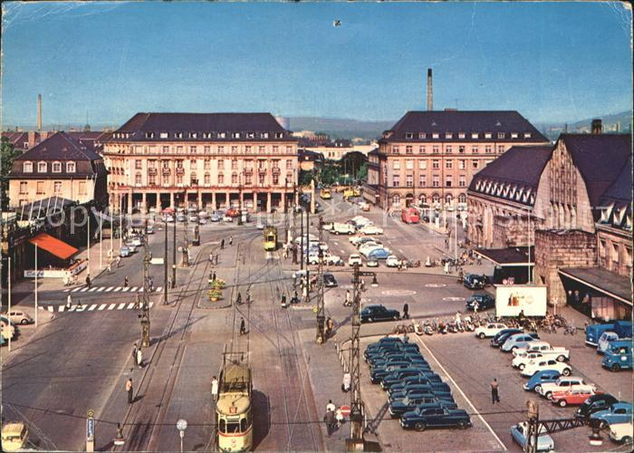 Strassenbahn Karlsruhe Bahnhofsplatz Kat. Strassenbahn