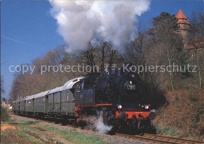 Lokomotive Dampf Tenderlokomotive 184 Type ELNA Deutsche Museumeisenbahn Kahlgrundbahn Bahnhof Alzenau Kat. Eisenbahn