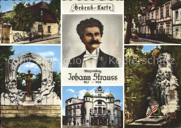 Strauss Johann Landhaus Salmannsdorf Strauss Villa Hietzing Volksoper Wien Kat. Komponist