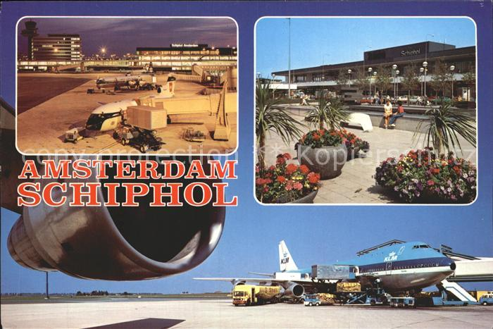 Flughafen Airport Aeroporto Amsterdam Schiphol Flugzeug KLM  Kat. Flug