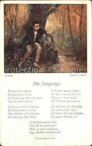 Schubert Franz Lied Der Neugierige Kuenstlerkarte A. Broch  Kat. Persoenlichkeiten