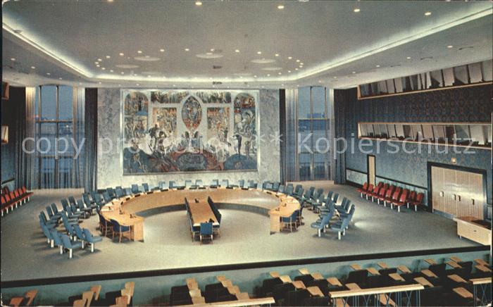 Politik Security Council Chamber New York  Kat. Politik