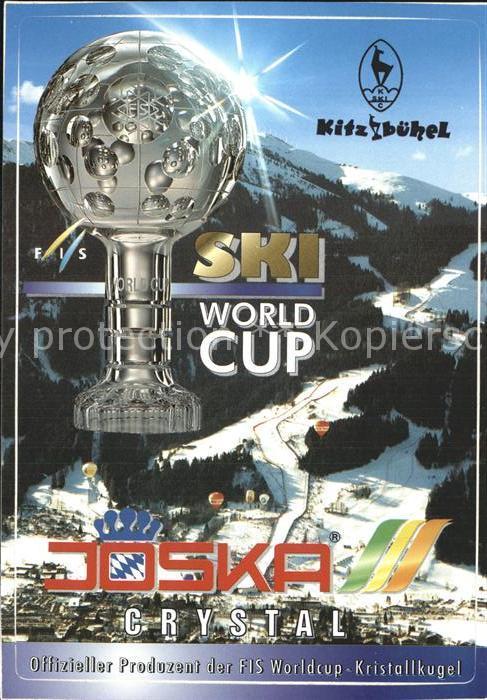 Skisport Ski World Cup Kitzbuehel Pokal Joska Crystal Werbung Kat. Sport