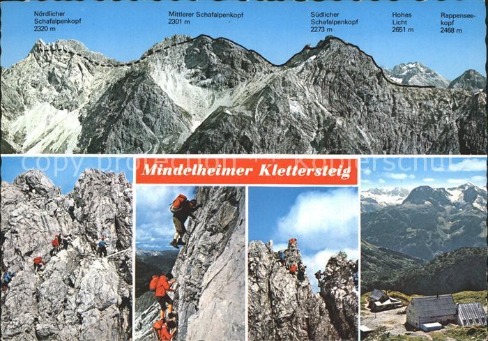Klettersteig Mindelheimer : Klettern bergsteigen mindelheimer klettersteig kat nr