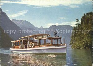 Motorboote Untersberg Koenigssee Schoenfeldspitze Steinernes Meer Kat. Schiffe