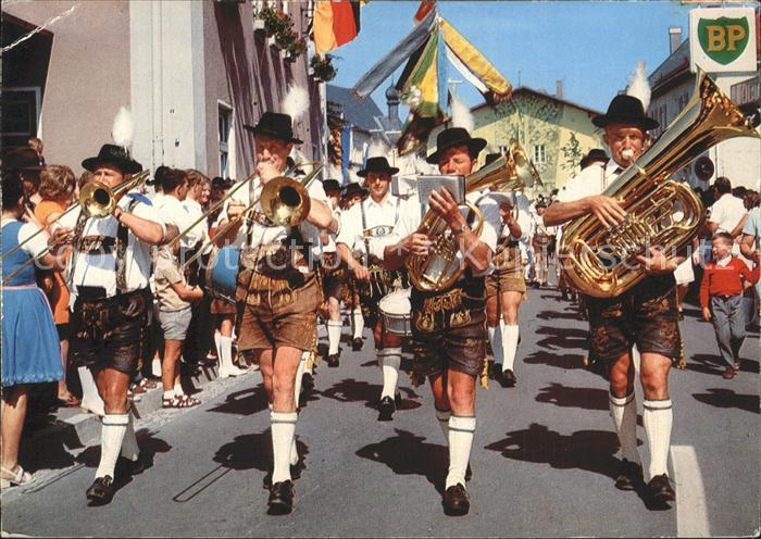 Musikanten Trachtenfest Bayern Posaune Tuba Kat. Musik