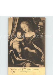 Religion Sacra Famiglia Kuenstlerkarte R. Pinacoteca  Kat. Religion
