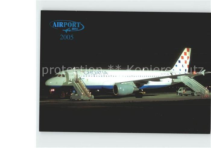 Flugzeuge Zivil Croatia Airlines Airbus A320 214 Airport Brno Kat. Airplanes Avions