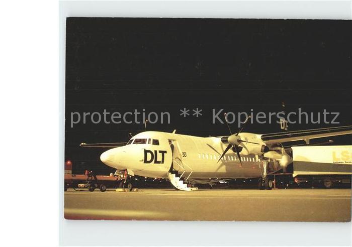 Flugzeuge Zivil DLT Fokker 50  Kat. Airplanes Avions