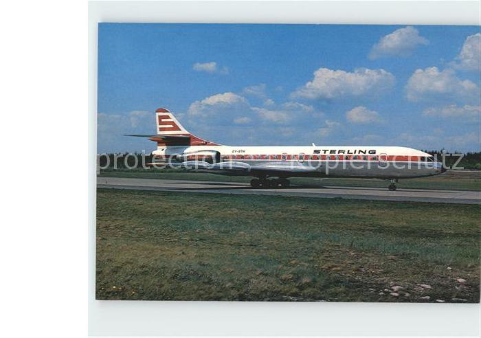 Flugzeuge Zivil Sterling Airways Sud Aviation SE 210 Caravelle Kat. Airplanes Avions