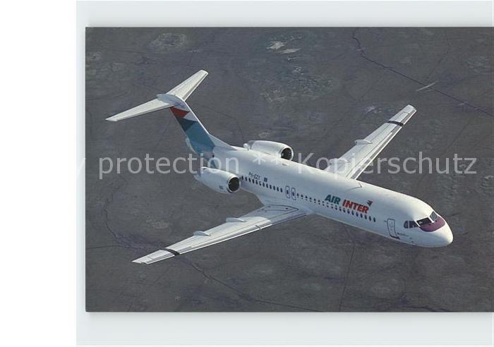 Flugzeuge Zivil Air Inter Fokker 100 c n 11487 Kat. Airplanes Avions