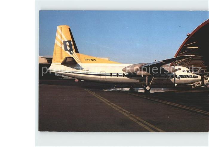Flugzeuge Zivil Air Queensland Fokker F 27 200 VH FNW c n 10254 Kat. Airplanes Avions