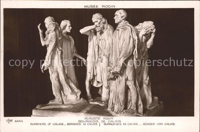 Skulpturen Bourgeois de Calais Auguste Rodin  Kat. Skulpturen