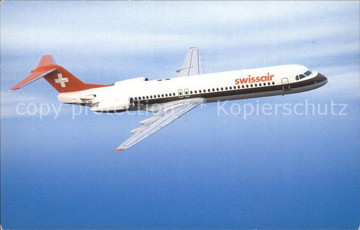 Swissair Fokker 100 HB IVA Kat. Flug