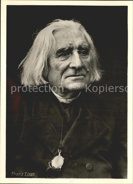 Liszt Franz Komponist  / Musik /