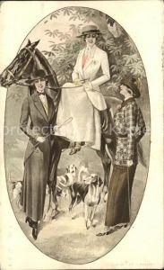 Mode Frauen Hutmode Pferd Hunde Kat. Mode