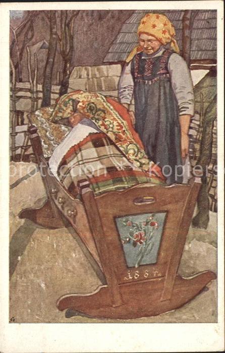 Kuenstlerkarte Leopold Resch Fatschpoper in der Wiagn Nr. 2  Kat. Kuenstlerkarte