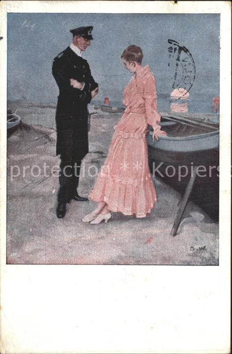 Wennerberg Brynolf Kriegspostkarte Nr. 21 Am Strand  Kat. Kuenstlerkarte