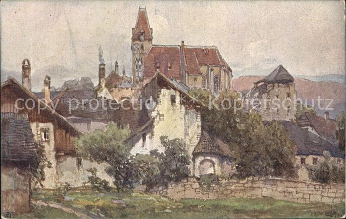 Kuenstlerkarte Fritz Lach Nibelungenweg Weissenkirchen Donau Kat. Kuenstlerkarte