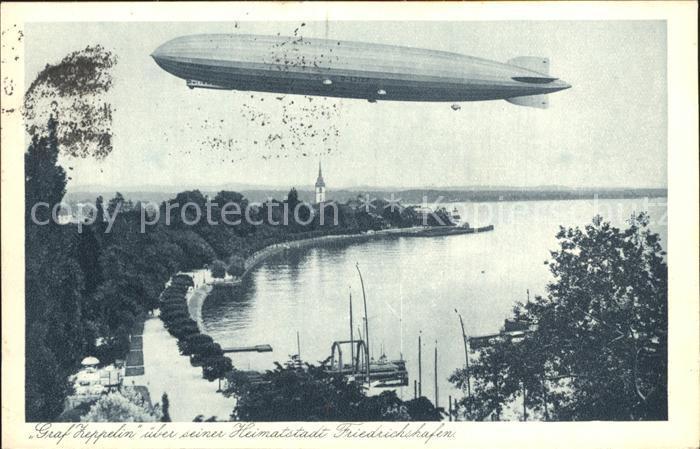 Zeppelin Graf Zeppelin Friedrichshafen Kat. Flug