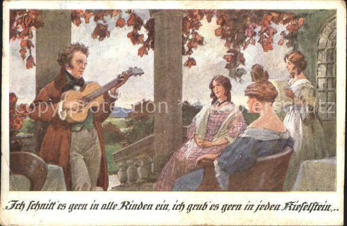 ks21938 Schubert Franz Gitarre Ich schnitt es gern in alle Rinden ein Kat. Perso