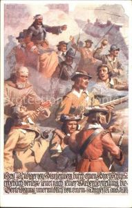Kuenstlerkarte R. Assmann Graf Ruediger von Starhemberg Verletzung Piusverein Wien Kat. Kuenstlerkarte